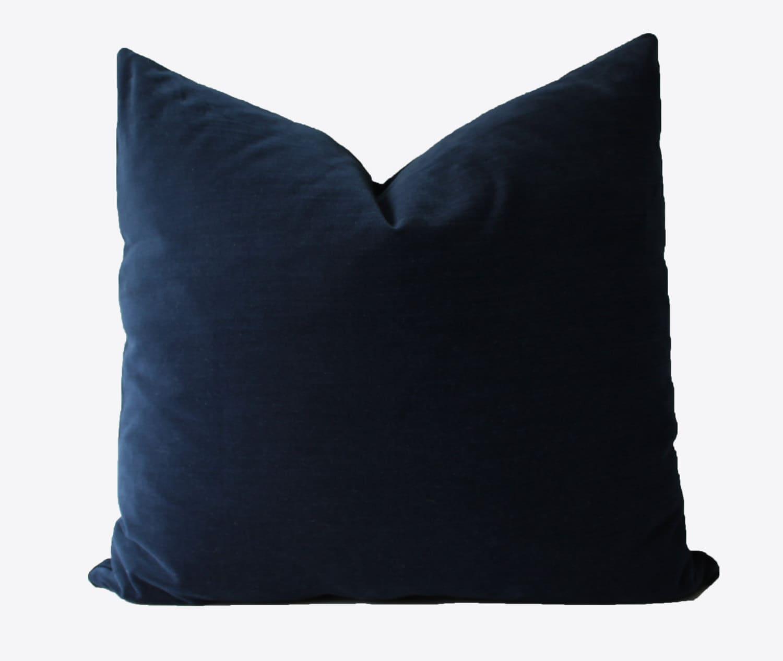 Decorative Velvet Navy Blue 20x20 20x20 20x20 or Lumbar