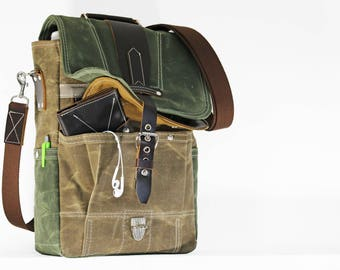 Vertical laptop messenger bag - convertible messenger 010076