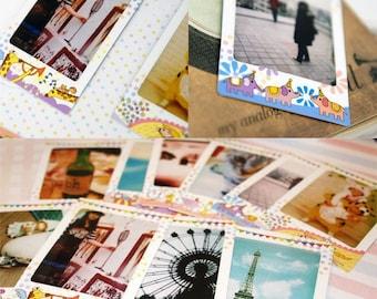 Mini Cartoon Animal Photo Frames, Scrapbook Photo Holder, Cardmaking Supplies, Instant Photo Frames, Circus Theme