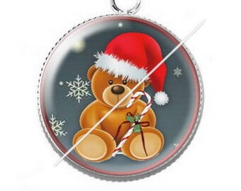 Pendant cabochon resin Merry Christmas happy holidays 23