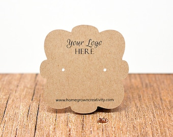 Custom Earring Display Cards - Puffy Cloud Shape - Packaging Tags
