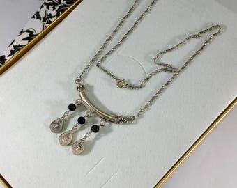 Necklace Silver 925 Onyx handmade SK659