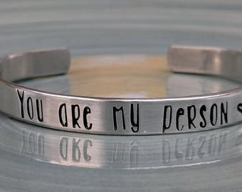 Hand Stamped Cuff Bracelet - Customized