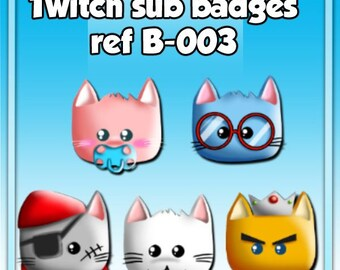 Generic Twitch sub badges (cats)