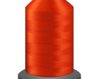 Orange thread, quilting thread, sewing machine thread, glide thread, sewing thread, 1000m cone, Safety orange thread, polyester thread