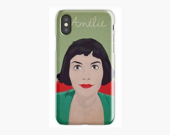 Amelie, funda para iPhone X, 8, 8 Plus, 7, 7 Plus, Iphone 6, 6s, 6 Plus, 6s Plus, 5/5s/SE, 5c, 4, 4s, Audrey Tautou