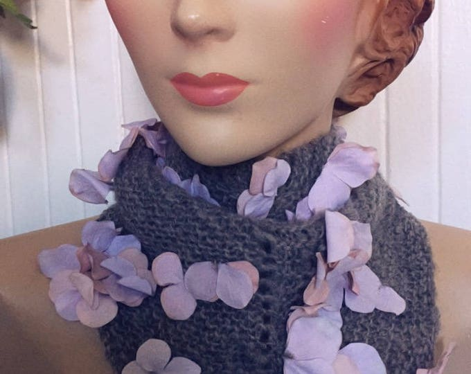 Insouciant Studios Bluster Floral Cowel Triangle Scarf