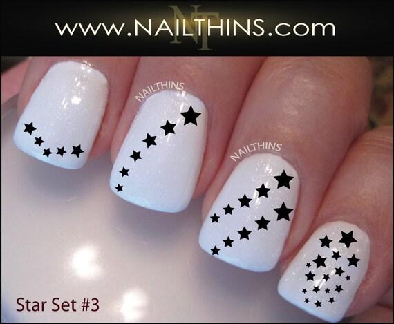 Star Nail Decal Set #3 Stars Nail Art Designs NAILTHINS from NAILTHINS on  Etsy Studio - Star Nail Decal Set #3 Stars Nail Art Designs NAILTHINS From