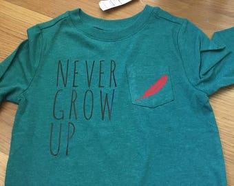 Peter Pan never grow up shirt.