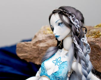 Collectible porcelain bjd mermaid Woglinde OOAK porcelain bjd doll Art doll Mermaid doll Unique bjd Art bjd OOAK bjd Art bjd dolls