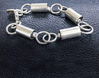 Silver Tube Loop Bracelet