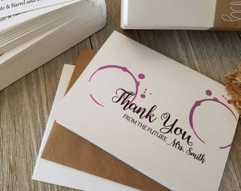 Bridal Shower Thank You Notes, Wine Theme Thank You Notes, Vineyard Thank You's, Wine Thank You