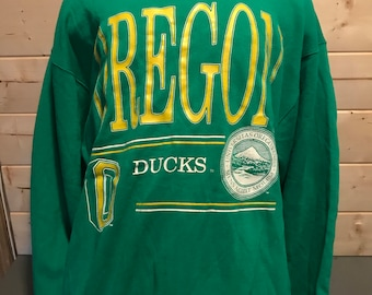 Vintage 1990's Oregon Ducks 50/50 T-Shirt Sweatshirt  New With Tag Thin and Soft Retro