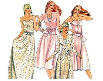 Camisole Dress Pattern Butterick 3911 Jacket & Feminine Maxi Dress Knee Length Slip Sundress Womens Vintage Sewing Pattern Size 8 UNCUT
