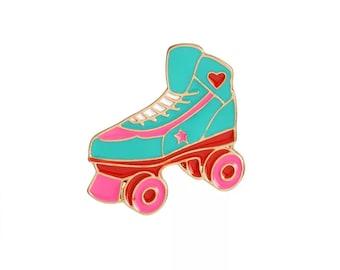 Turquoise Roller Skate Lapel Pin