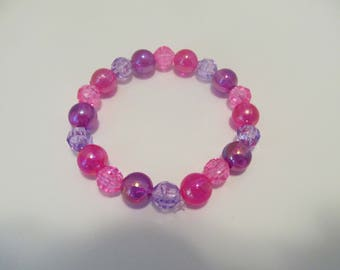 Pink and Purple Bracelet-Birthday Gift-Gifts for Her-Gifts for Girls-Gifts for Teens-Bracelets for Teens-Gifts for Teenagers
