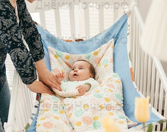 Hammock for baby newborn ECO natural Linen
