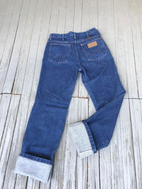 Vintage Wranglers, Wrangler jeans, High Waisted Jeans, vintage denim, high rise jeans, western cut jeans, Men's 29X32, Women's Sz S