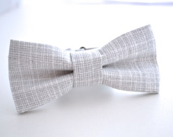 Boys Bowtie, Gray and White, Gray Bow Tie, Boys Bow Tie, Boys Gray Bow Tie, Ring Bearer Bow Tie, Wedding Bow Tie, Kids Bow Ties