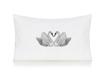 Swans pillow case, cushion, bedding, pillow cover
