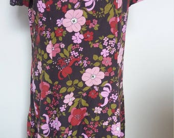 Fabulous Vintage Brown/Pink Dress Size 12/14