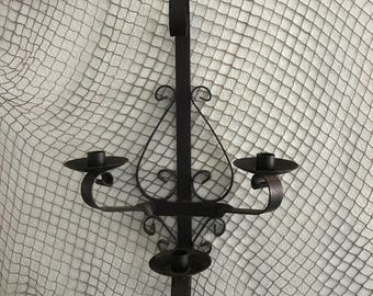 wrought one industrial sconce iron p light foyer and wall sconces