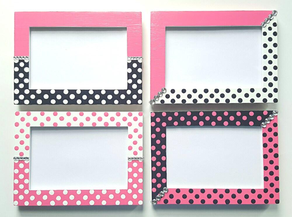 Cuadro rosa marcos de diamantes de imitación - foto 4 x 6 marcos ...
