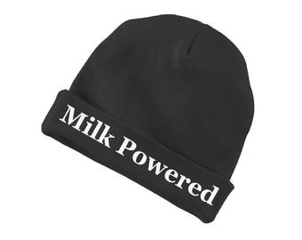Milk Powered Funny Cotton Beanie For Infants