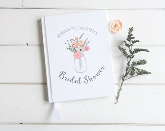 Floral Bridal Shower Guest Book. Custom Guest Book. Bride Gift. Wedding Journal Wishes Book. Bridal Shower Wishes Book. Custom Bride Journal