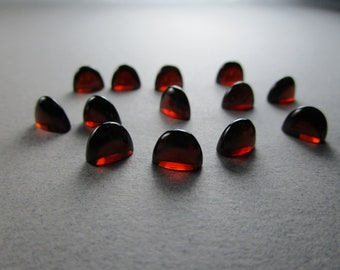 Garnet Arch Cabs / 8 x 4 x 6 Millimeters / Price for Each Garnet Cabochon