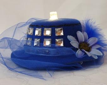 Light-up TARDIS Mini Fascinator Hat