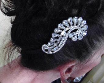 Rhinestone Wedding Bridal Hair Accessory - Stunning!