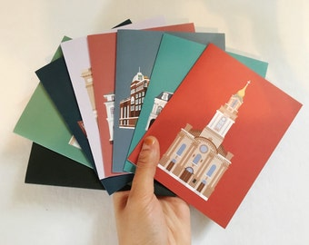 Landmarks of New Orleans Greeting Card Set (8 Pack), Historic Building/ House Architecture Louisiana