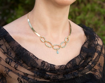Bluemother of the bride jewelry, Elegantmother of the bride jewelry, Mother of the bride necklace, Necklace for mom