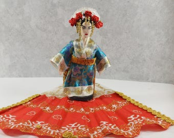 Maria Callas as Madame Butterfly Opera Singer Exotic Doll Miniature Sized