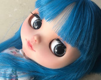 "OOAK SA Hand-painted Handmade 12""Blythe custom eye chips - B1712093"