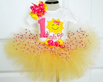 First Birthday Outfit Girl Baby Girl 1st Birthday Outfit Girl Cake smash outfit,you are my sunshine outfit,Personalized Birthday Dress