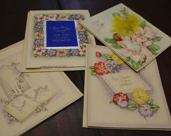 Lot of 4 Wallace/Brown Varying Unused Greeting Cards
