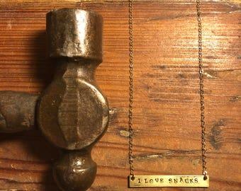 I LOVE SNACKS Necklace
