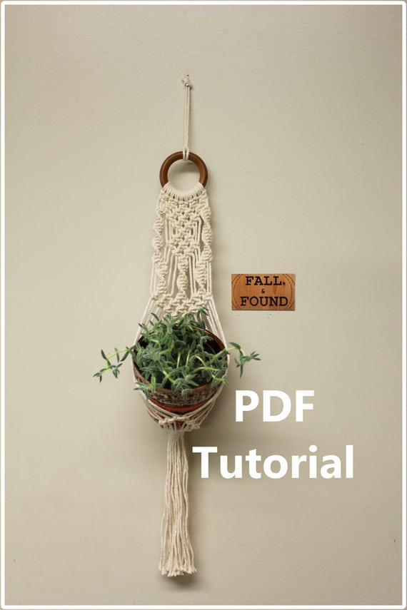 Old Fashioned image inside free printable macrame plant hanger patterns