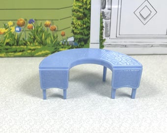 "MARX COFFEE TABLE, 1950's, Hard Plastic, 3/4"" Scale, Traditional Style, Marxie Mansion, Vintage Tin Dollhouse Furniture"