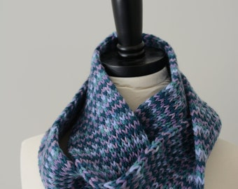 Double Knit Infinity Scarf Hand Loom Knitted