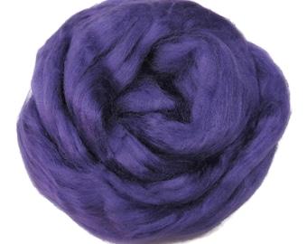Viscose Fiber for felting ,spinning, paper making and art batts . color: Violet