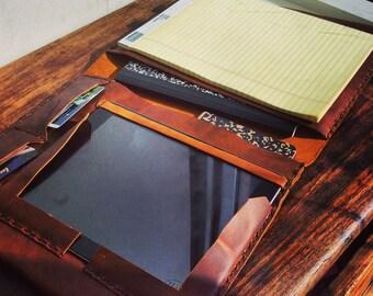 iPad legal pad holder, Conference notepads, Leather portfolio, Legal pad cover, iPad portfolio case with notepad, Leather iPad case