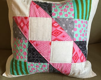 """Custom 20"""" quilted pillow cover"""