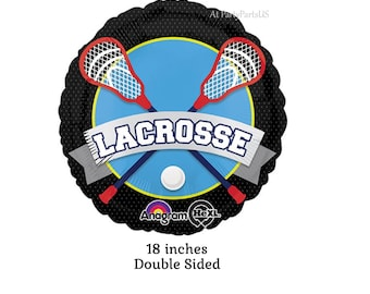 lacrosse balloon, graduation party decorations, sports players, athletics, athletes, birthday, Fathers Day ideas, high school, team