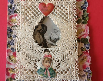 Antique Valentine Early 1900's Card