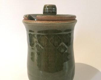 Green Honey/Sugar Pot