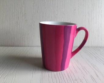 13 - Pink striped mug