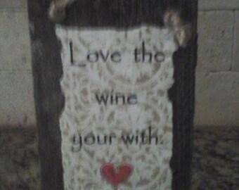 Rustic Wine Sign